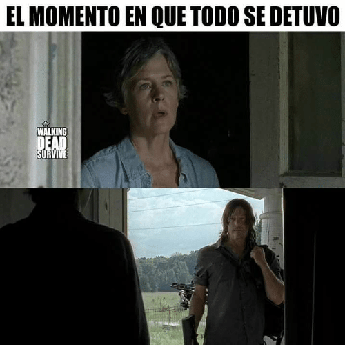 Memes, Walking Dead, and 🤖: EL MOMENTO EN QUE TODO SE DETUVO  WALKING  DEAD  SURVIVE