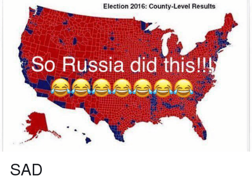 election 2016: Election 2016: County-Level Results  So Russia did this!! SAD