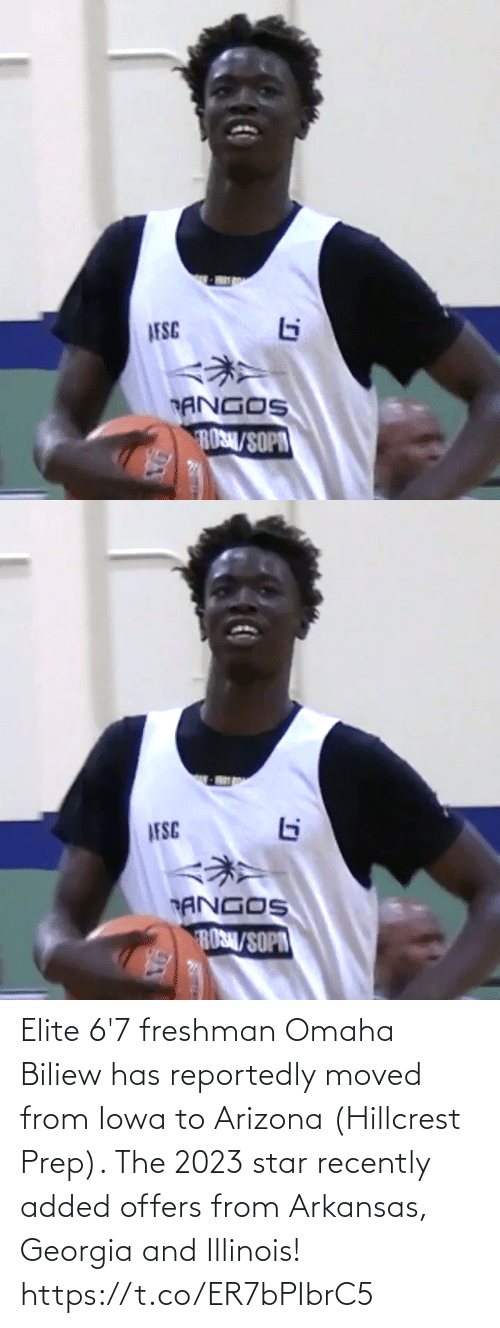 Georgia: Elite 6'7 freshman Omaha Biliew has reportedly moved from Iowa to Arizona (Hillcrest Prep). The 2023 star recently added offers from Arkansas, Georgia and Illinois! https://t.co/ER7bPIbrC5
