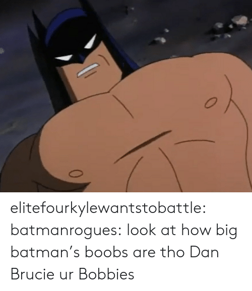 dan: elitefourkylewantstobattle:  batmanrogues:  look at how big batman's boobs are tho  Dan Brucie ur Bobbies
