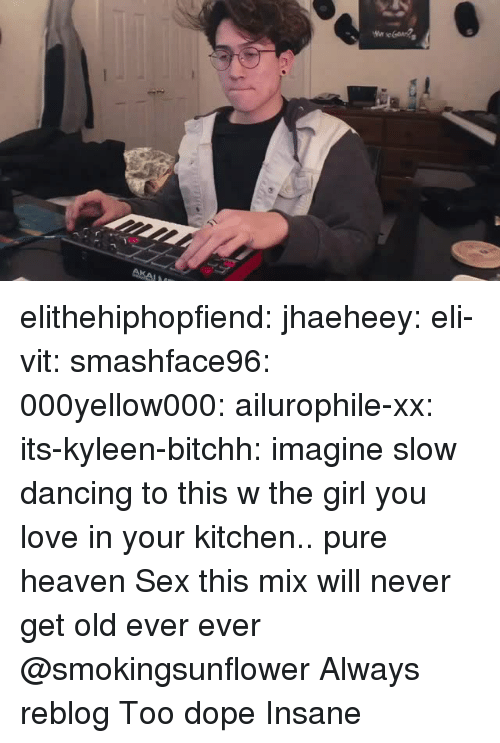 Anaconda, Dancing, and Dope: elithehiphopfiend: jhaeheey:   eli-vit:  smashface96:  000yellow000:   ailurophile-xx:   its-kyleen-bitchh: imagine slow dancing to this w the girl you love in your kitchen.. pure heaven   Sex   this mix will never get old ever ever    @smokingsunflower     Always reblog    Too dope    Insane