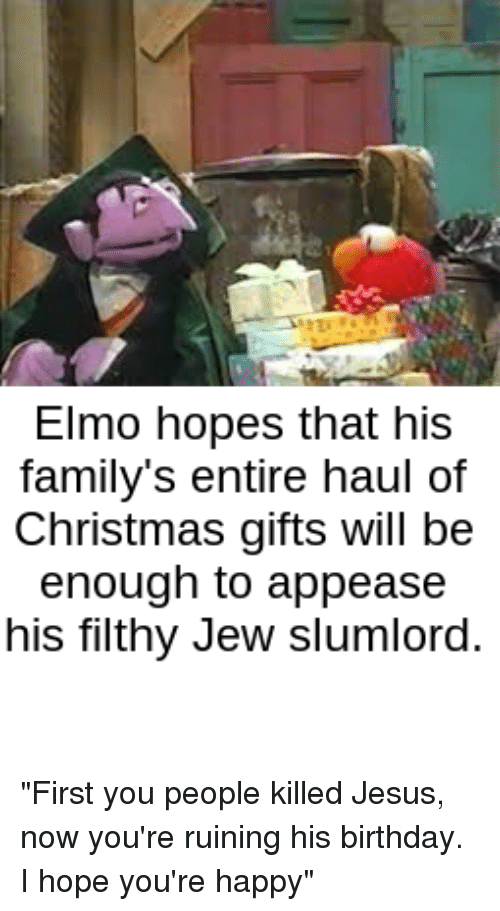 Elmo Hopes That His Family S Entire Haul Of Christmas Gifts