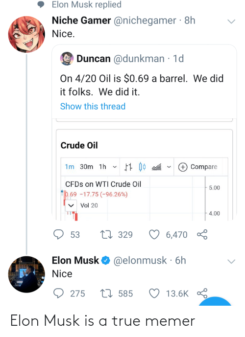 elon: Elon Musk is a true memer