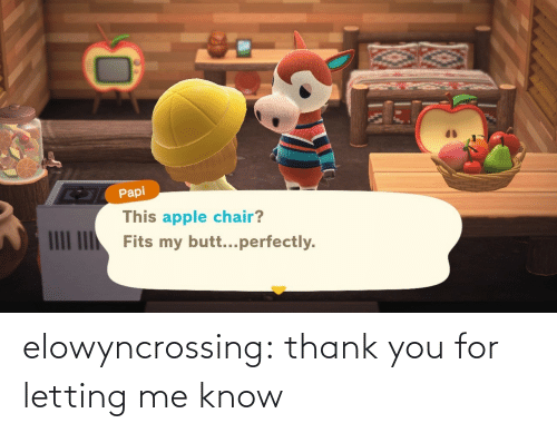 know: elowyncrossing:  thank you for letting me know