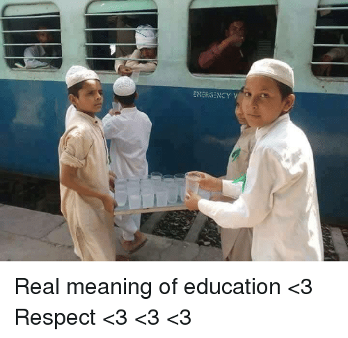 Emergent: EMERGENCY Y Real meaning of education <3  Respect <3 <3 <3