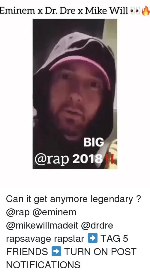 Dr. Dre, Eminem, and Friends: Eminem x Dr. Dre x Mike Will00  BIG  @rap 201 Can it get anymore legendary ? @rap @eminem @mikewillmadeit @drdre rapsavage rapstar ➡️ TAG 5 FRIENDS ➡️ TURN ON POST NOTIFICATIONS