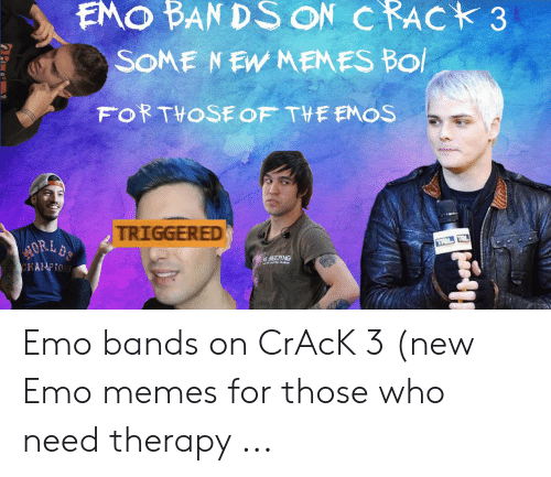 Emo Band Memes: EMO BAN DS ON CRACK 3  TRIGGERED  is BEEPING Emo bands on CrAcK 3 (new Emo memes for those who need therapy ...
