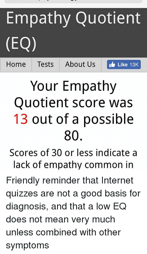 Empathy Quotient EQ Home Tests About Us Like 13K Your Empathy