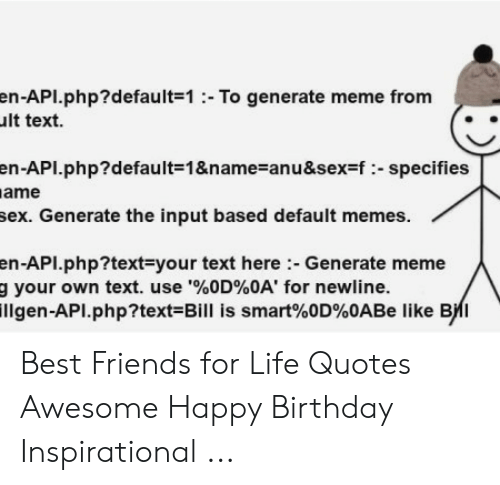 En API default=1 To Generate Meme From Lt Text En API