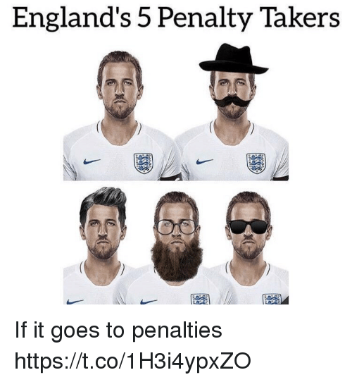 Memes, 🤖, and Takers: England's 5 Penalty Takers If it goes to penalties https://t.co/1H3i4ypxZO