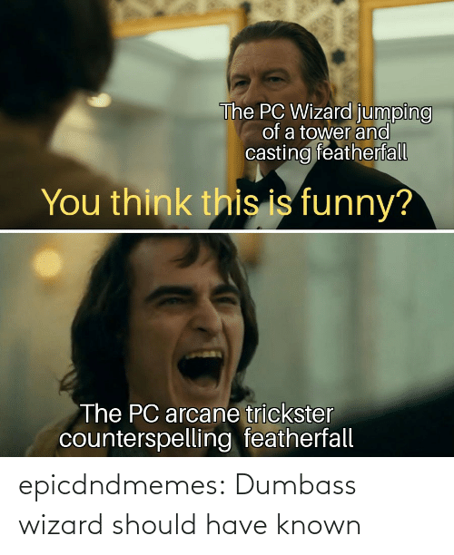 wizard: epicdndmemes:  Dumbass wizard should have known