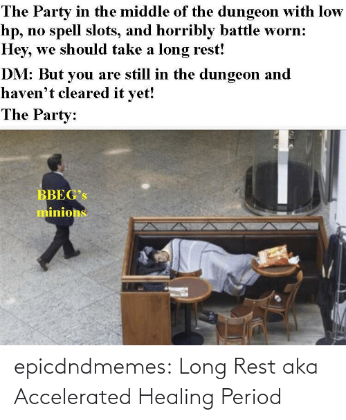 aka: epicdndmemes:  Long Rest aka Accelerated Healing Period