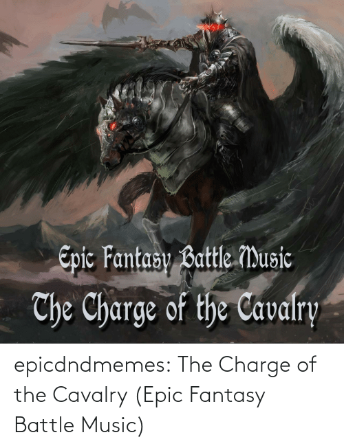 epic: epicdndmemes:  The Charge of the Cavalry (Epic Fantasy Battle Music)