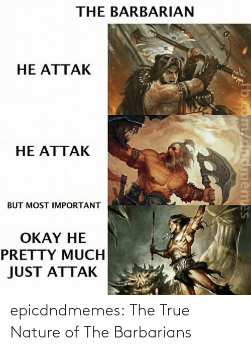 tumblr blog: epicdndmemes:  The True Nature of The Barbarians