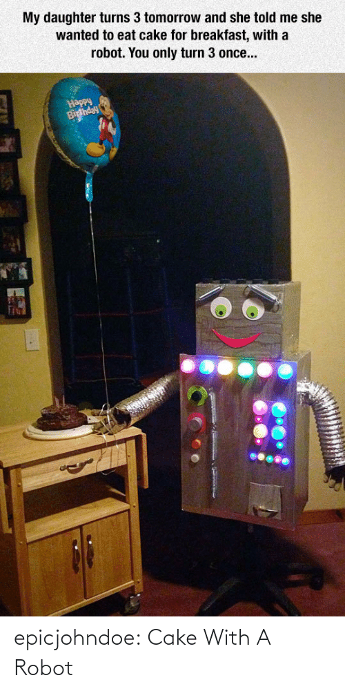 Https: epicjohndoe:  Cake With A Robot