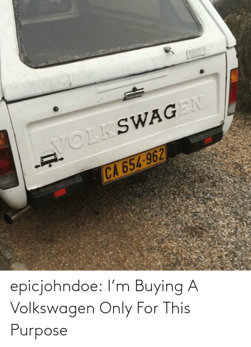 Buying: epicjohndoe:  I'm Buying A Volkswagen Only For This Purpose