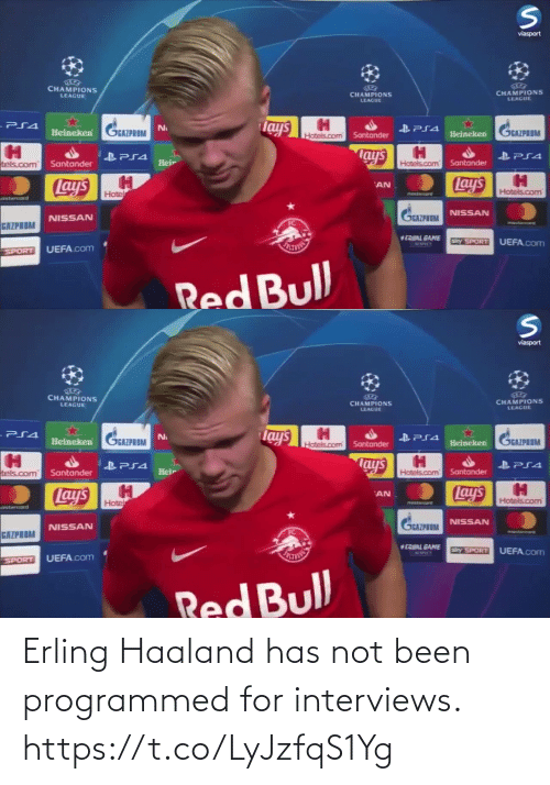 Interviews: Erling Haaland has not been programmed for interviews. https://t.co/LyJzfqS1Yg