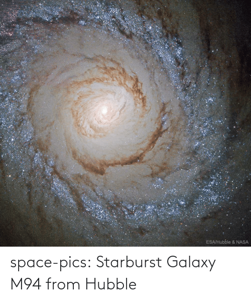 galaxy: ESA/Hubble & NASA space-pics:  Starburst Galaxy M94 from Hubble