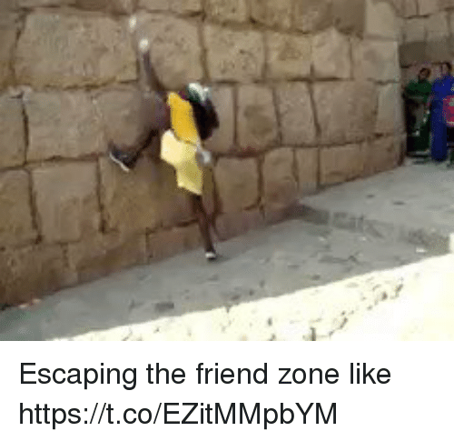 Friend Zoning: Escaping the friend zone like   https://t.co/EZitMMpbYM