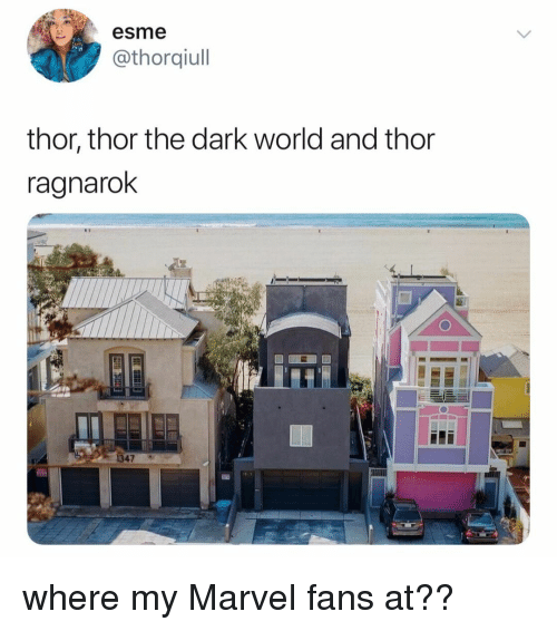 Marvel, Thor, and World: esme  @thorqiull  thor, thor the dark world and thor  ragnaroK  19  1347 where my Marvel fans at??