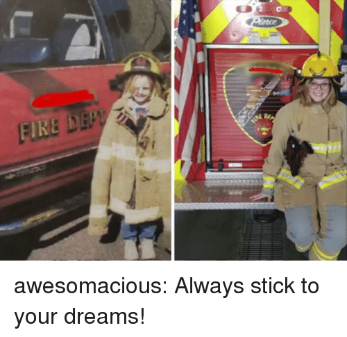 Tumblr, Blog, and Http: etce awesomacious:  Always stick to your dreams!