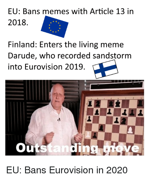 Eu Bans Memes With Article 13 In 2018 Finland Enters The Living Meme