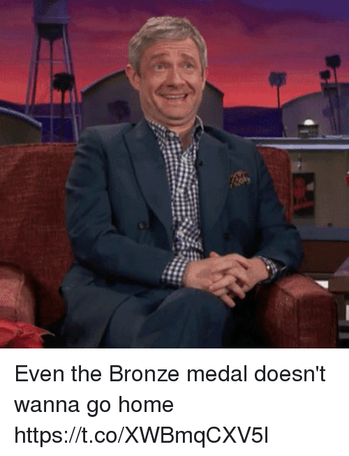 Soccer, Home, and Bronze: Even the Bronze medal doesn't wanna go home https://t.co/XWBmqCXV5l