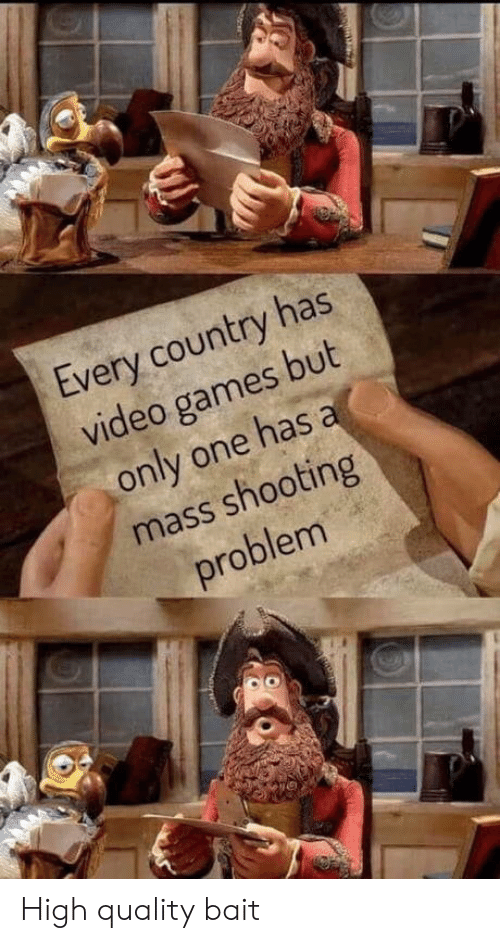 Video Games, Games, and Video: Every country has  video games but  only one has a  mass shooting  problem High quality bait
