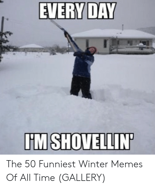 Memes, Winter, and Time: EVERY DAY  IM SHOVELLIN The 50 Funniest Winter Memes Of All Time (GALLERY)
