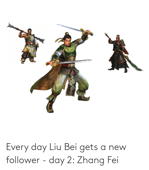 Zhang: Every day Liu Bei gets a new follower - day 2: Zhang Fei