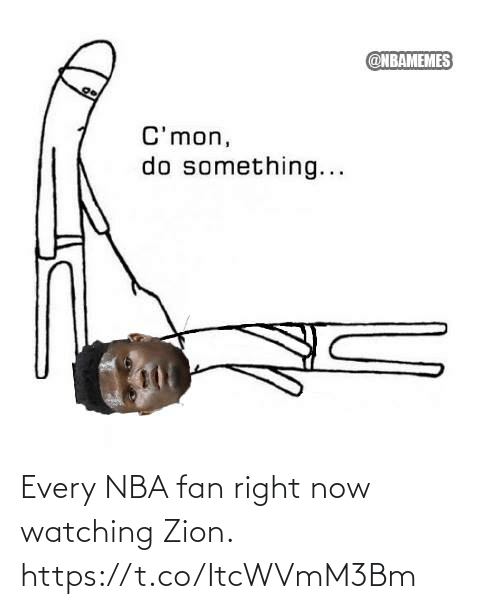 ballmemes.com: Every NBA fan right now watching Zion. https://t.co/ItcWVmM3Bm