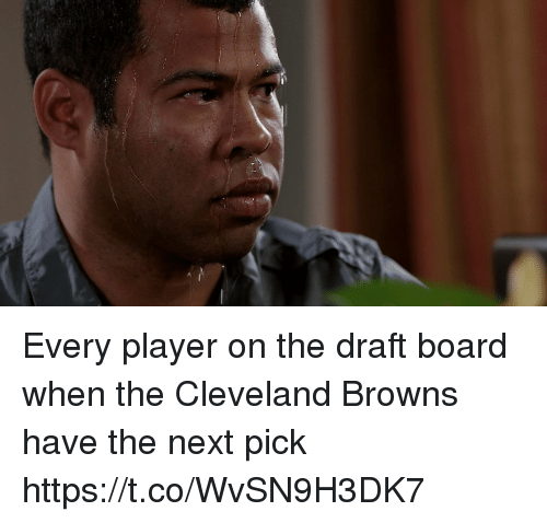 Cleveland Browns, Football, and Nfl: Every player on the draft board when the Cleveland Browns have the next pick https://t.co/WvSN9H3DK7