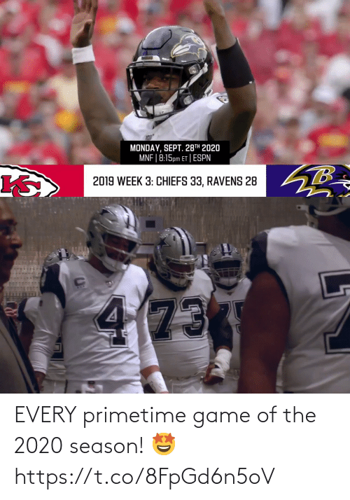 Season: EVERY primetime game of the 2020 season! 🤩 https://t.co/8FpGd6n5oV