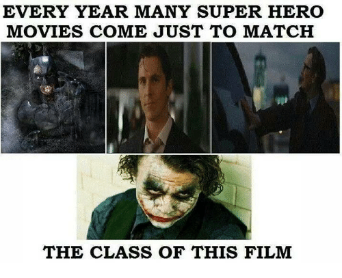 hero movie: EVERY YEAR MANY SUPER HERO  MOVIES COME JUST TO MATCH  THE CLASS OF THIS FILM