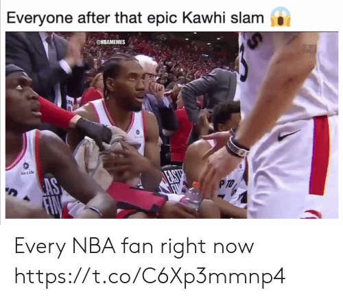 Life, Memes, and Nba: Everyone after that epic Kawhi slam .  Sun Life Every NBA fan right now https://t.co/C6Xp3mmnp4