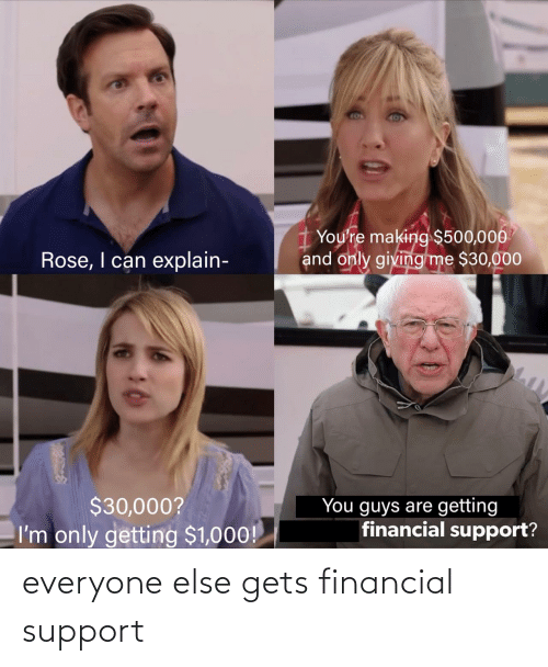 Everyone Else: everyone else gets financial support