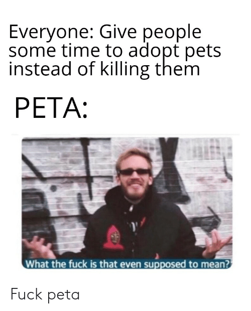 Everyone Give People Some Time to Adopt Pets Instead of Killing Them