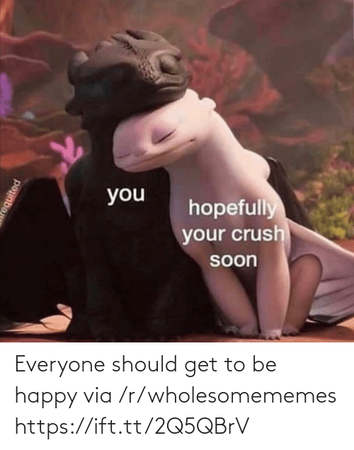 Be Happy: Everyone should get to be happy via /r/wholesomememes https://ift.tt/2Q5QBrV