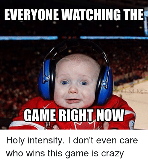 The Ref: EVERYONE WATCHING THE  ref logic  nh GAME RIGHT NOW Holy intensity. I don't even care who wins this game is crazy