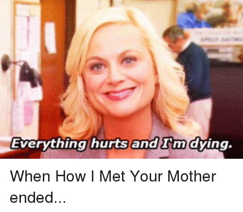 Everything Hurts: Everything hurts and Im  dying When How I Met Your Mother ended...