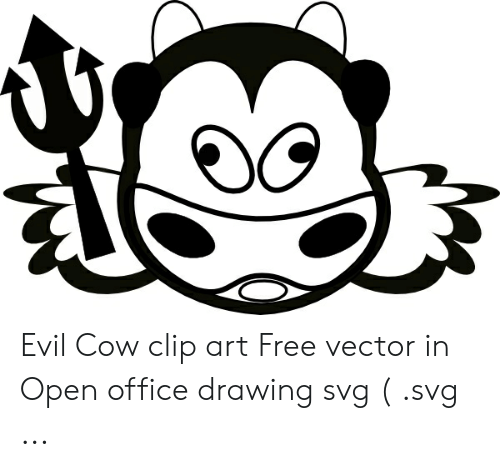 Evil Cow Clip Art Free Vector in Open Office Drawing Svg Svg