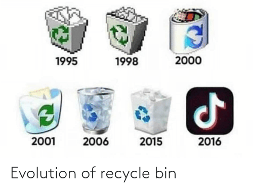 Evolution Of: Evolution of recycle bin