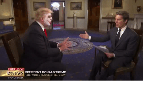 White House: EXCLUSIV  NEWS  #POTUSonABC  PRESIDENT DONALD TRUMP  THE WHITE HOUSE INTERVIEW