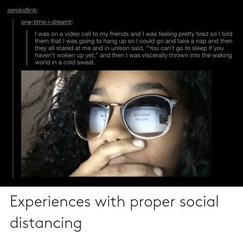 Experiences: Experiences with proper social distancing