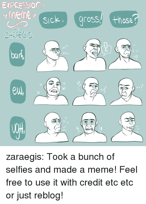 Meme, Target, and Tumblr: EXPRESSIOn  ZARHEGIS  euw zaraegis:  Took a bunch of selfies and made a meme!Feel free to use it with credit etc etc or just reblog!