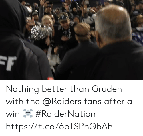 Raiders: F Nothing better than Gruden with the @Raiders fans after a win ☠️ #RaiderNation https://t.co/6bTSPhQbAh