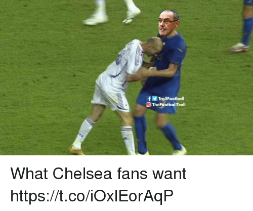 Chelsea, Memes, and 🤖: f TrollFootball  @ TheFootballTroll What Chelsea fans want https://t.co/iOxlEorAqP