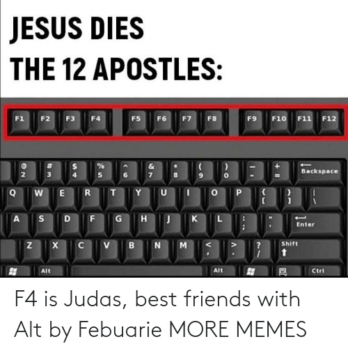 Judas: F4 is Judas, best friends with Alt by Febuarie MORE MEMES