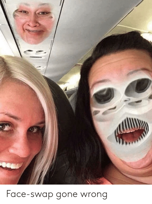 Face Swap, Gone, and Face: Face-swap gone wrong