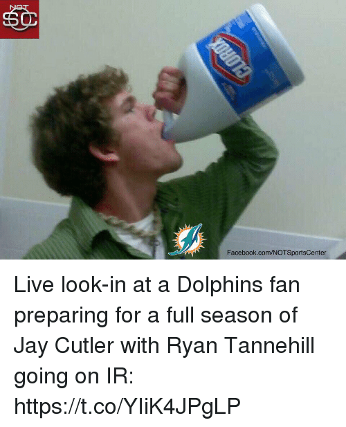 tannehill: Facebook.com/NOTSportsCenter Live look-in at a Dolphins fan preparing for a full season of Jay Cutler with Ryan Tannehill going on IR: https://t.co/YIiK4JPgLP